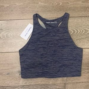 Outdoor Voices Navy Tech Sweat Bra - NWT!